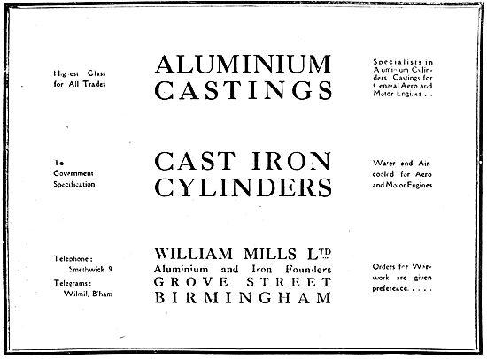 William Mills Aluminium Castings - Cast iron Cylinders