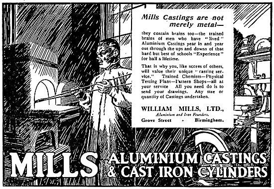 William Mills Aluminium & Iron Founders. Grove Street, Birmingham