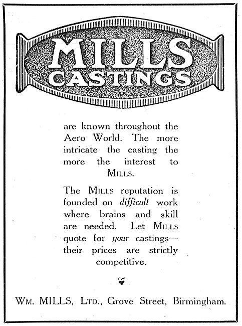 William Mills Aeroplane Castings.