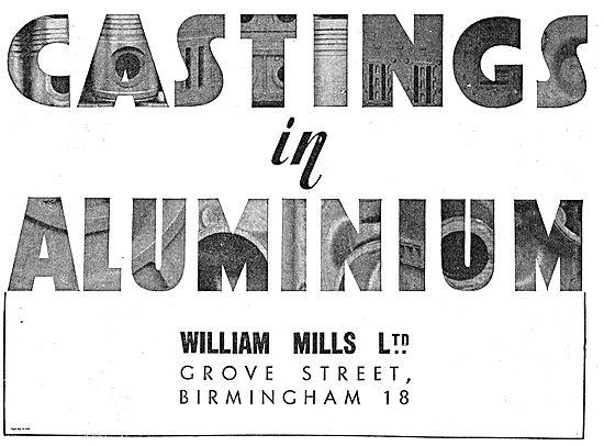 William Mills Grove Street Birmingham: Aluminium Castings