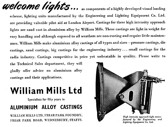 William Mills Aluminium Alloy Castings Welcome Lights