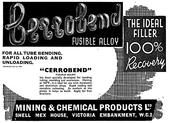 Mining And Chemical Cerrobend Fusible Alloys