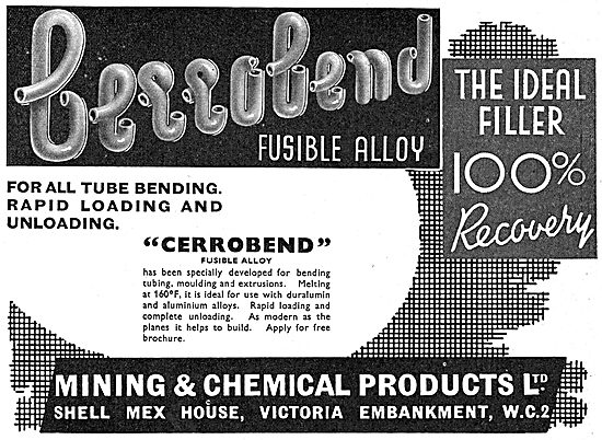 Mining And Chemical. CERROBEND Fusible Alloy