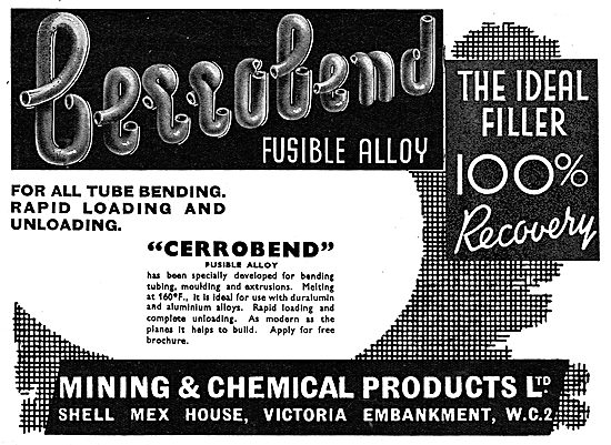 Mining And Chemical : Cerrobend Fusible Alloy