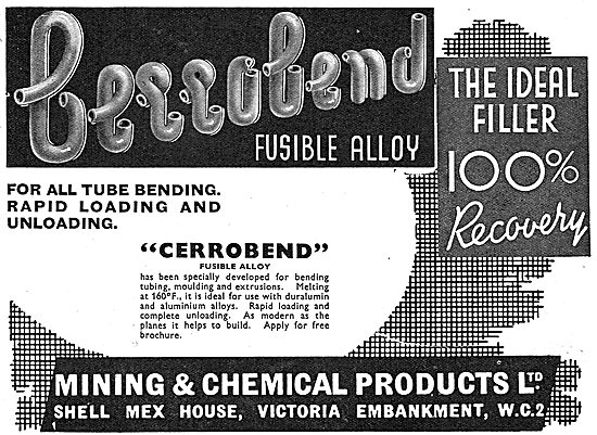 Mining And Chemical : Cerrobend Tube Bending Fusible Alloy