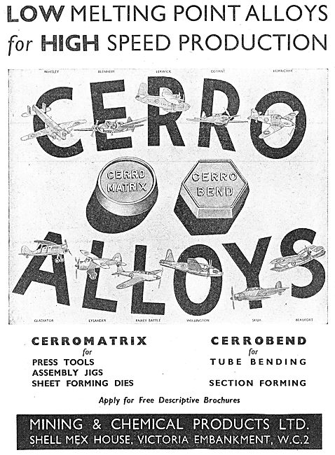 Mining And Chemical : Cerrobend Matrix Tube Bending Fusible Alloy