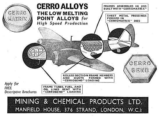 Mining & Chemical Cerro Alloys - Cerro Matrix