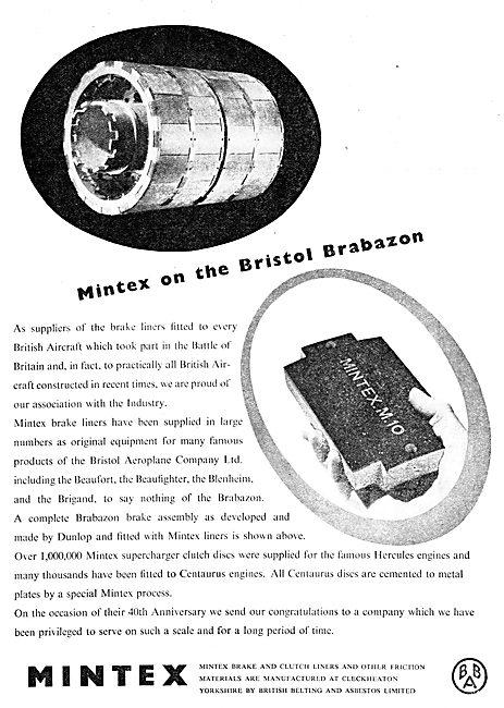 Mintex Aircraft Brake Liners