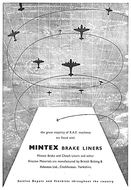 Mintex Aircraft Brake Linings 1950
