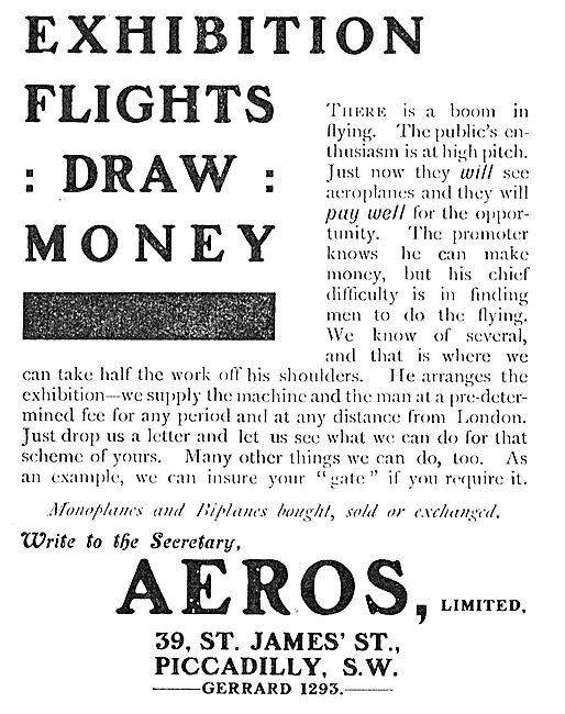 Exhibition Flights Draw Money: Let Aeros Ltd  Arrange Yours.