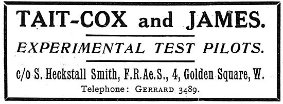 Tait-Cox & James Experimental Test Pilots