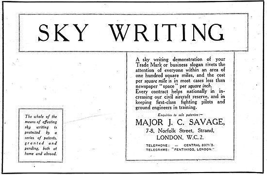 Major J.C.Savage - Skywriter