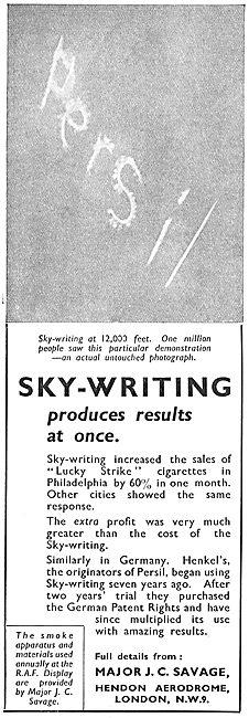 Major J.C.Savage - Sky-Writing. Persil