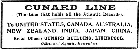Cunard Line - The Line That Holds All The Atlantic Records