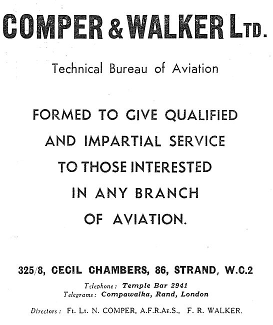 Comper & Walker Ltd - Aviation Technical Bureau & Consultancy