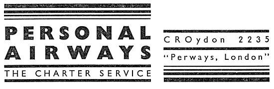 Personal Airways. Croydon. Air Charter Service