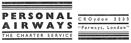 Personal Airways. Croydon. Air Charter Service