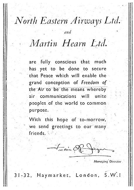 North Eastern Airways & Martin Hearne