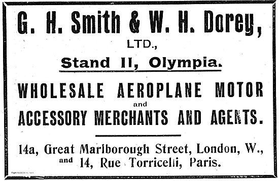 G.H.Smith & W.H.Dorey Wholesale Aeroplane Motor Merchants