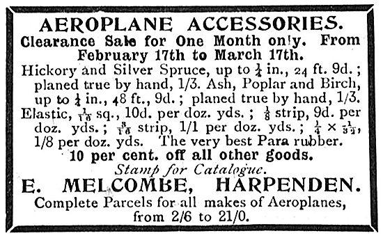 E.Melcombe Harpenden - Aeroplane Accessories