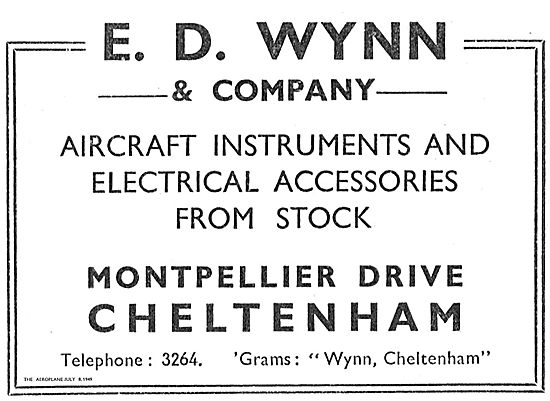 E.D. Wynn & Company Aircraft Instruments & Accessories In Stock