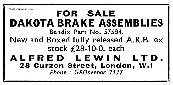 Alfred Lewin Ltd Have Dakota Brake Assemblies In Stock