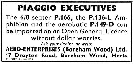 Aero-Enterprises Piaggio Executives P166, P136-L, P149D