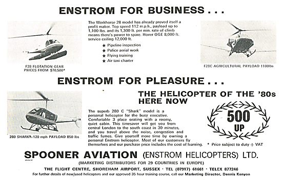 Spooner Aviation - Enstrom Helicopters