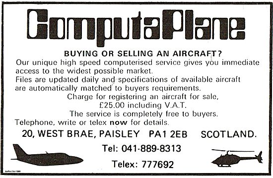 ComputaPlane Service For Buying Or Selling Your Aircraft