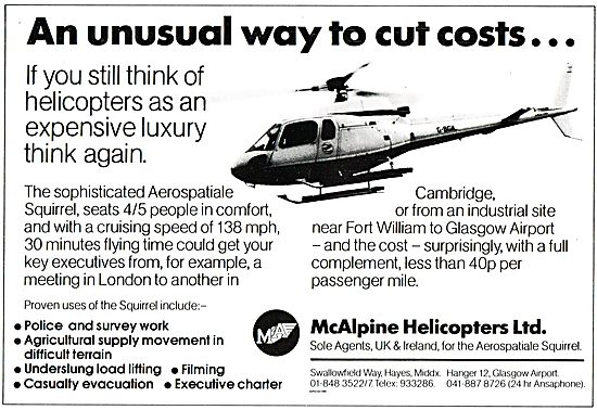 McAlpine Helicopters - AS Squirrel