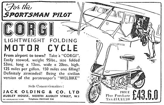 Jack Olding & Co Ltd Corgi Lightweight Folding Motorcycle