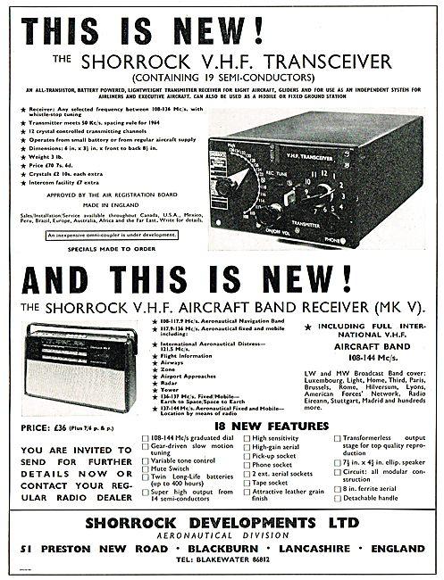 Shorrock 12 Channel VHF Transceiver & MkV VHF Airband Receiver