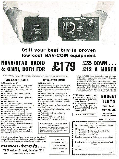 Nova-Tech Nova-Star VHF Radio Nova-Star Omni (VOR)
