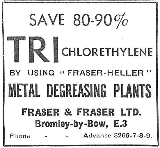 Fraser & Fraser Trichlorethylene Metal Degreasing Plants