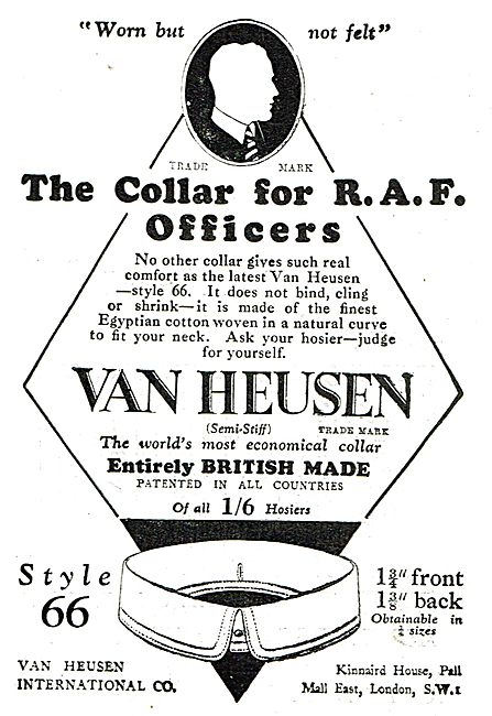 Van Heusen British Made Collars For RAF Officers: Style 66  1/6