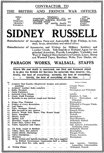 Sidney Russell AGS Parts