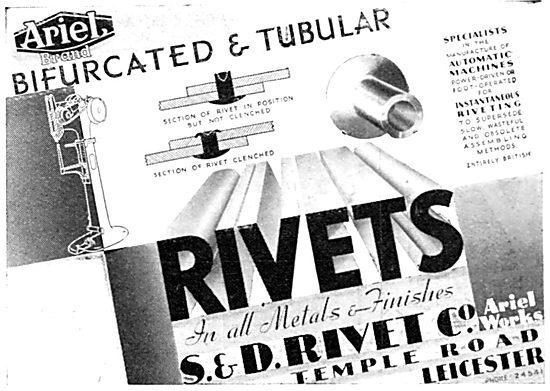 S & D Rivet Co - Temple Road, Leicester. Rivet Manufacturers