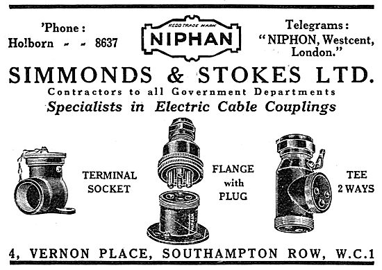 Simmonds & Stokes Electrical Cable Couplings. NIPHAN