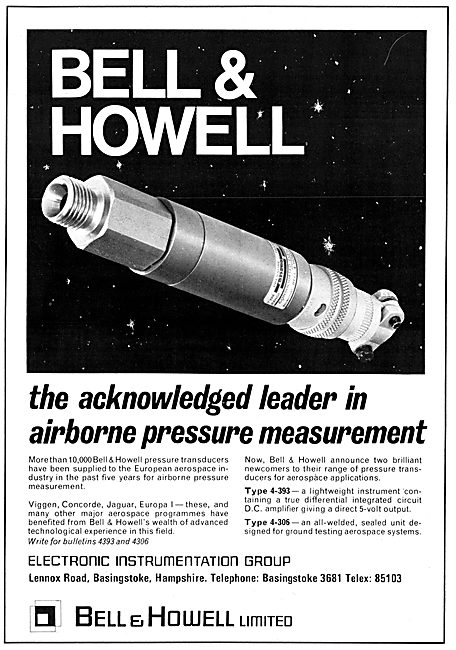 Bell & Howell Airborne Pressure Measurement