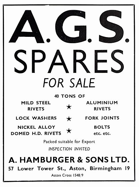 Hamburger AGS Spares
