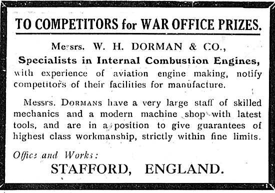 W.H.Dorman & Co Stafford - Specialists In Internal Combustion Eng
