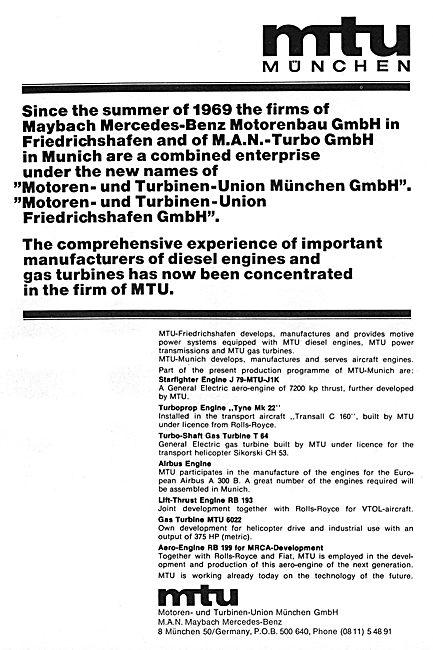 MTU Motoren - Turbinen-Union Munchen GmbH