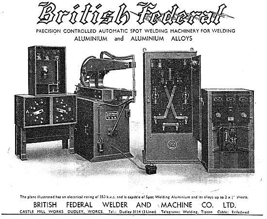 British Federal Welder & Machine Co Ltd. Welding Machinery