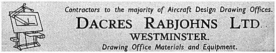 Dacres Rabjohns. Drawing Office Equipment & Materials.