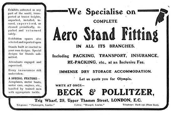 Beck & Pollitzer Specialise In Aero Stand Fitting & Packing