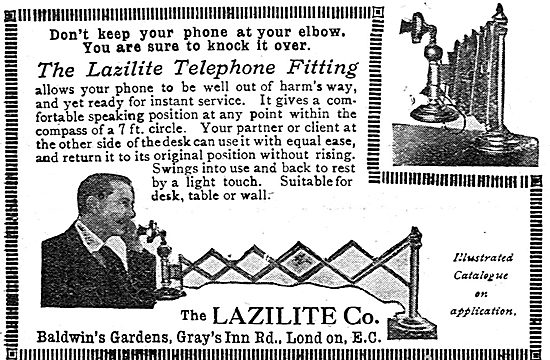 The Lazilite Co - the Lazilite Telephone Fitting.