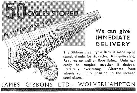 James Gibbons, Wolverhampton. Steel Cycle Racks 1937