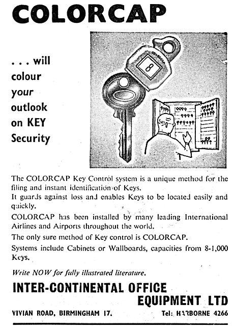 Inter-Continental Office Equipment Ltd. COLORCAP Key Security