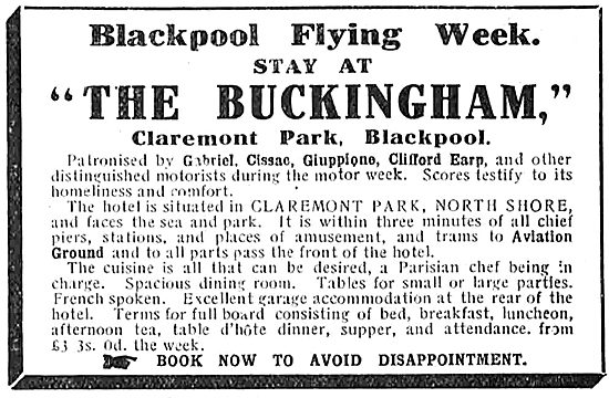 Stay At The Buckingham Hotel For The Blackpool Flying Week