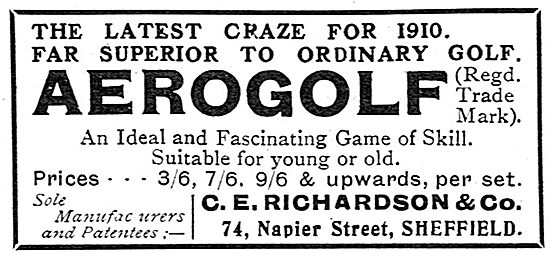 C.E.Richardson & Co. Aerogolf Game